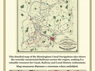 John Hancox's Map Of The Birmingham Canal Navigations 1864