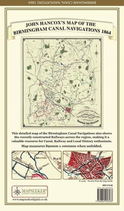 John Hancox's Map Of The Birmingham Canal Navigations 1864
