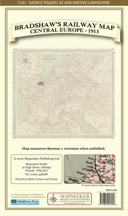 Bradshaws Folded Map - Central Europe