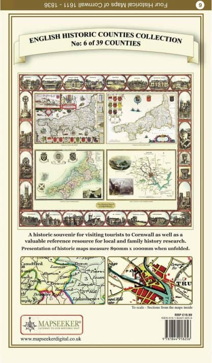 Collection Of Four Historic Maps Of Cornwall