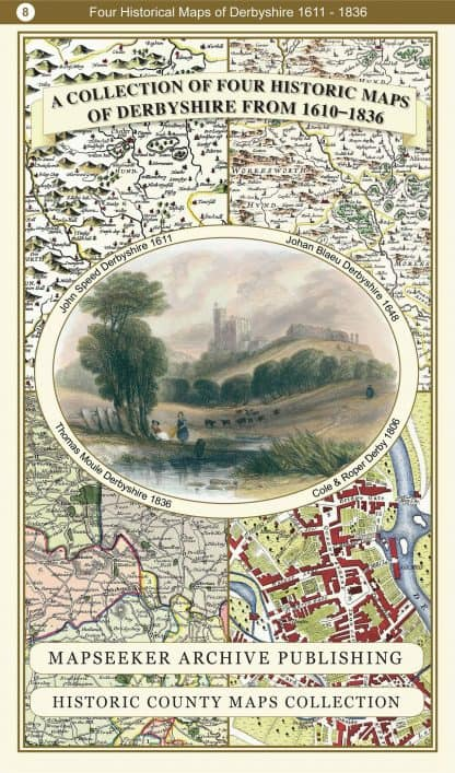Collection Of Four Historic Maps Of Derbyshire