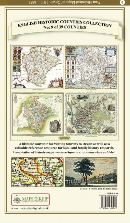 Collection Of Four Historic Maps Of Devon