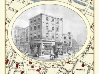 Drakes Street Plan And Index Birmingham 1832