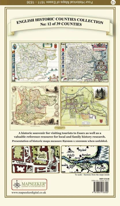 Collection Of Four Historic Maps Of Essex