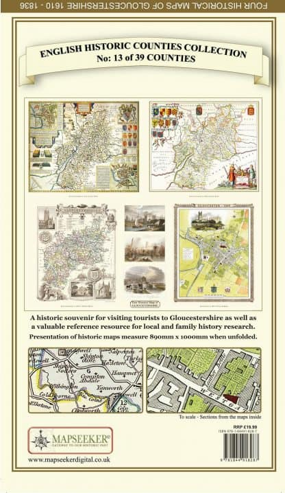 Collection Of Four Historic Maps Of Gloucestershire