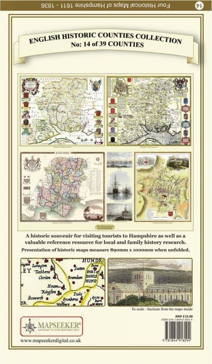 Collection Of Four Historic Maps Of Hampshire