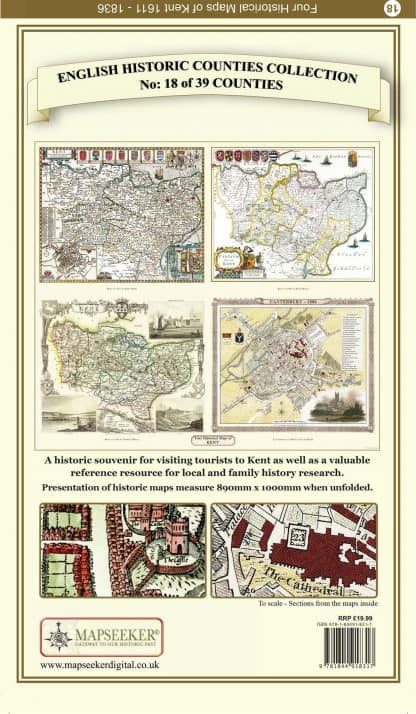 Collection Of Four Historic Maps Of Kent