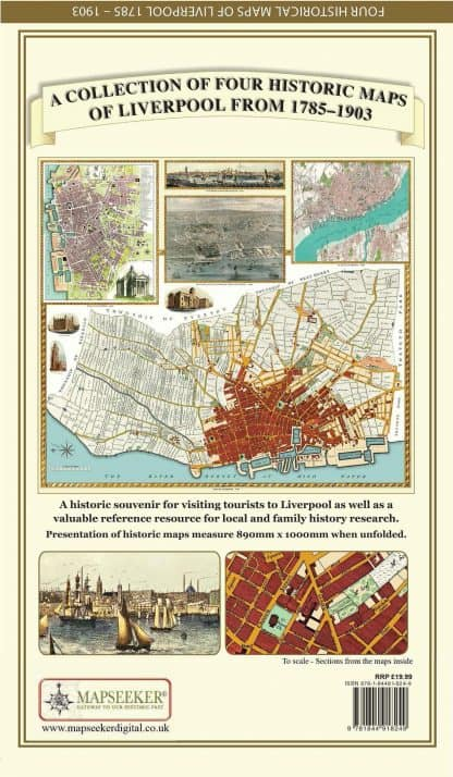 A Collection Of Four Historic Maps Of Liverpool From 1785 - 1903
