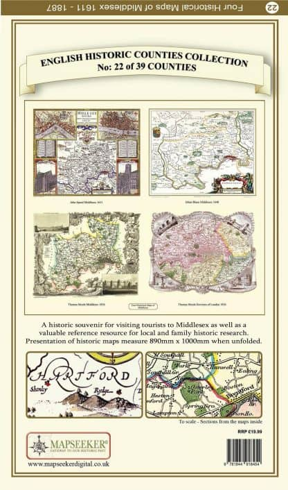 Collection Of Four Historic Maps Of Middlesex