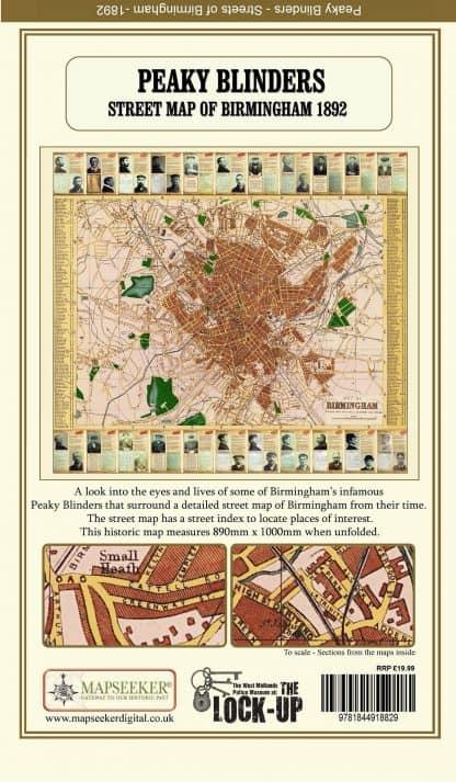 Peaky Blinders - Street Map Of Birmingham 1892