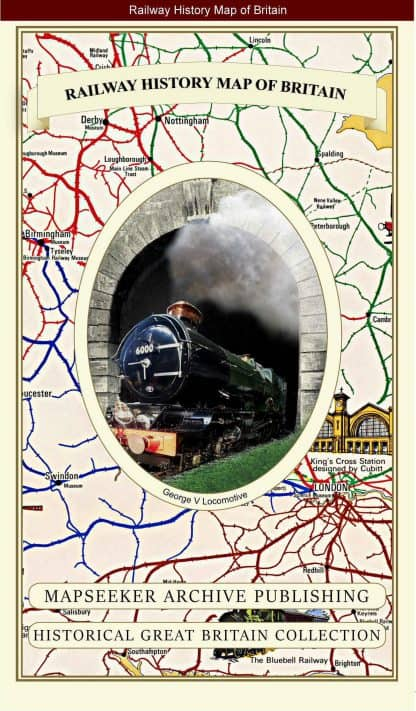 Railway History Map Of Britain - Pictorial