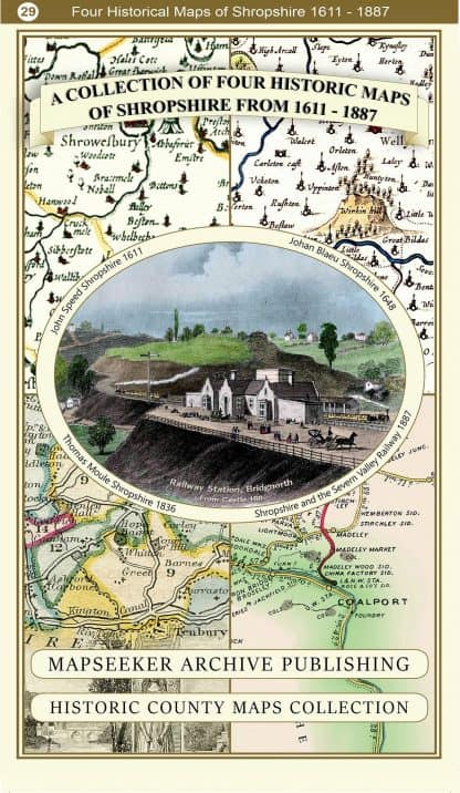 Collection Of Four Historic Maps Of Shropshire